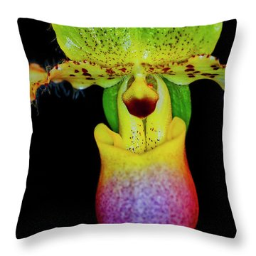 Orchid Study Eleven Throw Pillow