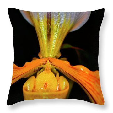 Orchid Study Five Throw Pillow