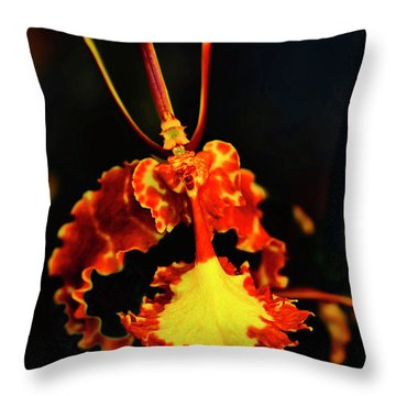 Orchid Study Four Throw Pillow
