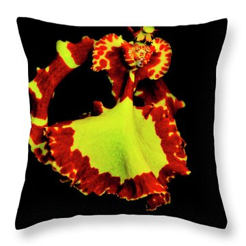 Orchid Study Nine Throw Pillow