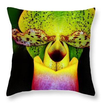 Orchid Study One Throw Pillow
