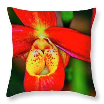 Orchid Study Seven Throw Pillow