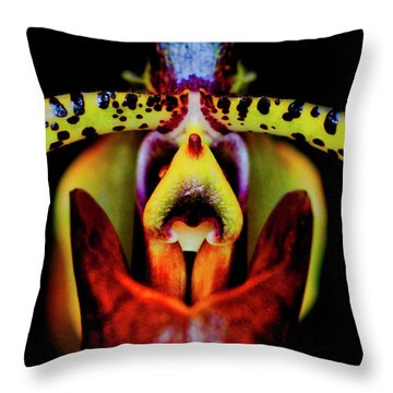 Orchid Study Six Throw Pillow