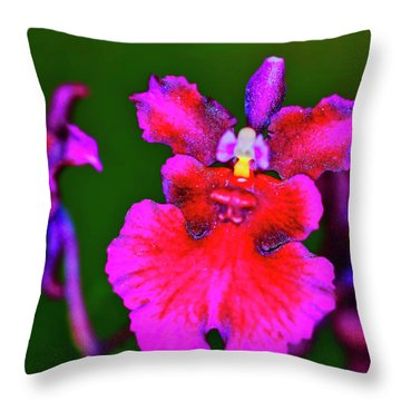 Orchid Study Three Throw Pillow