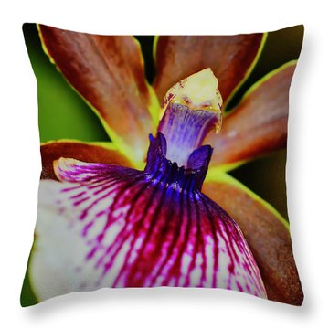 Orchid Study Two Throw Pillow