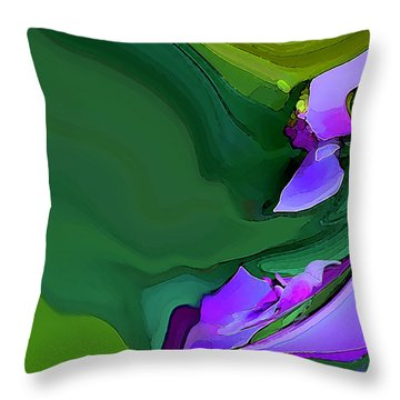 Orchids And Emeralds Throw Pillow