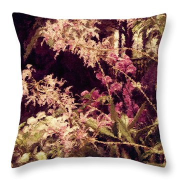 Orchids In The Atrium Throw Pillow