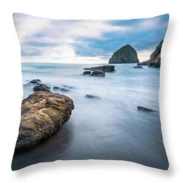 Oregon Coast Throw Pillow