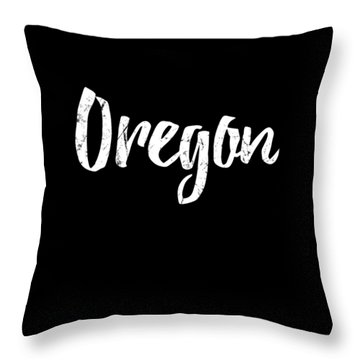 Throw Pillow featuring the digital art Oregon by Flippin Sweet Gear