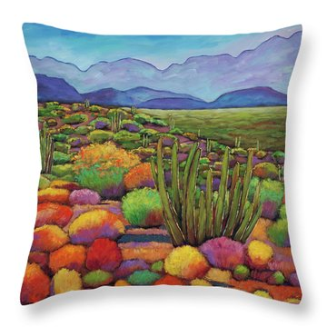Organ Pipe Throw Pillow