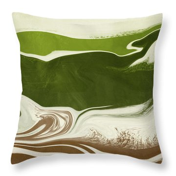 Organic Wave 2- Art By Linda Woods Throw Pillow