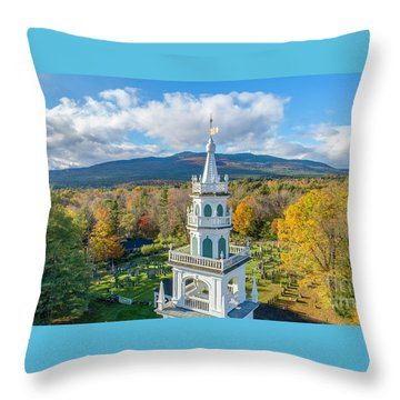 Throw Pillow featuring the photograph Original Meeting House Jaffrey Nh by Michael Hughes
