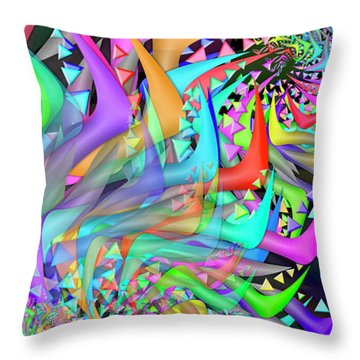 Ornament Complex Remix One Throw Pillow