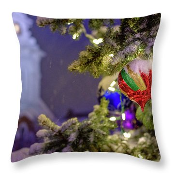 Ornament, Market Square Christmas Tree Throw Pillow