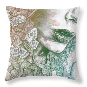 Ornaments - Rainbow II Throw Pillow