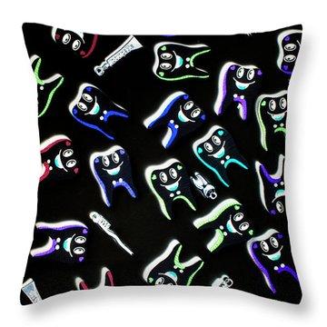 Orthodontist Comic X-ray Throw Pillow