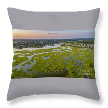 Throw Pillow featuring the photograph Other Side Winnipaug  by Michael Hughes
