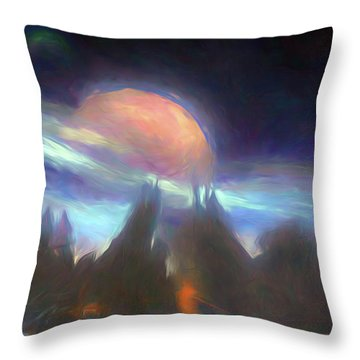 Other Worlds II Throw Pillow