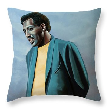 Otis Redding Painting Throw Pillow
