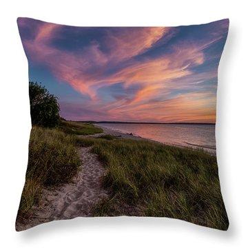 Otter Creek Sunset Throw Pillow