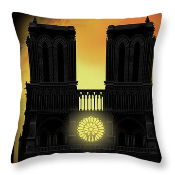 Our Lady Throw Pillow