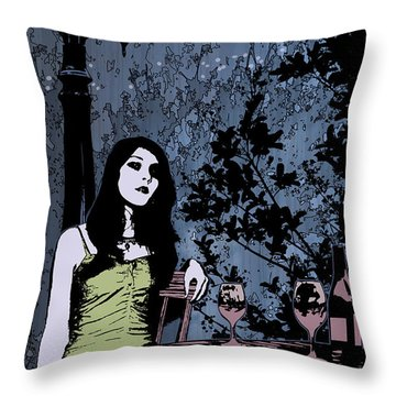 Out At Night Throw Pillow