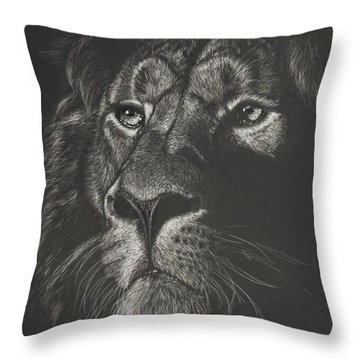 Out From The Dark Throw Pillow
