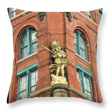 Out In The Cold Throw Pillow