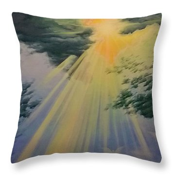 Out Of Darkness His Light Shall Shine Throw Pillow
