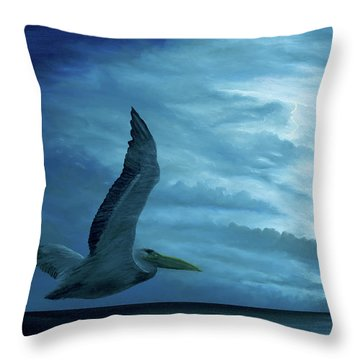 Throw Pillow featuring the painting Out Of The Blue by Kevin Daly