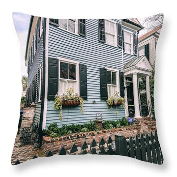 Out Of The Clear Blue Throw Pillow