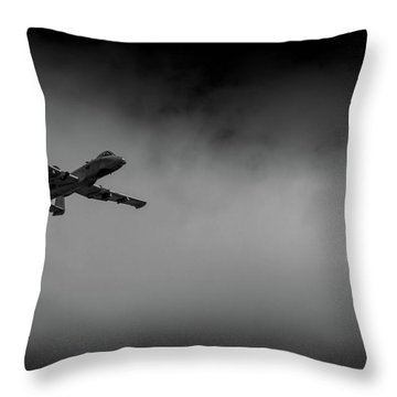 Out Of The Clouds - A-10c Thunderbolt Throw Pillow