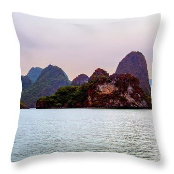 Out To Sea - Halong Bay, Vietnam Throw Pillow