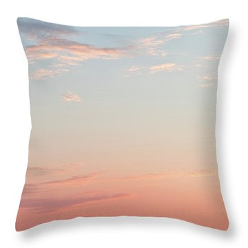 Outer Banks Sailboat Sunset Throw Pillow