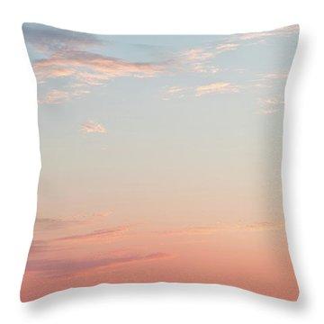 Outer Banks Sailboat Sunset Throw Pillow