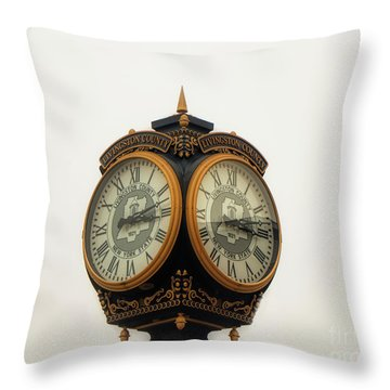 Outside Timepiece Throw Pillow