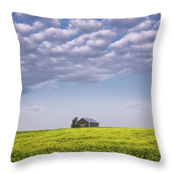 Outstanding In Its Field Throw Pillow