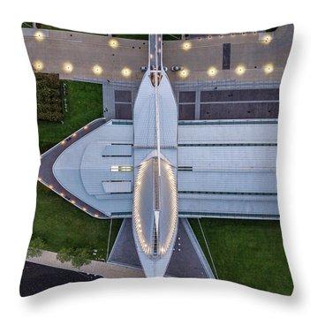 Throw Pillow featuring the photograph Over Milwaukee Art Museum by Randy Scherkenbach