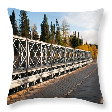 Throw Pillow featuring the photograph Over The River by Carl Young