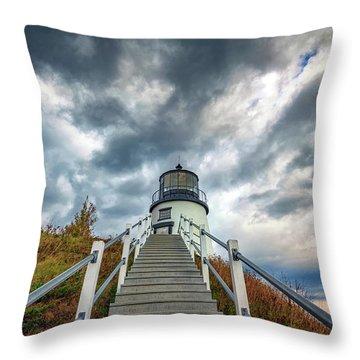 Throw Pillow featuring the photograph Owls Head Lighthouse by Rick Berk
