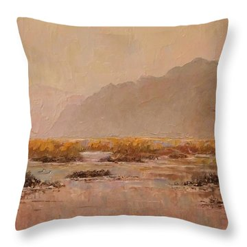 Oyster Beds Emerging Throw Pillow