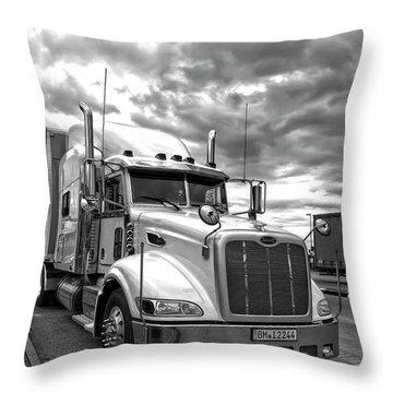 P E T E R B I L T Truck . . . On The Road Throw Pillow