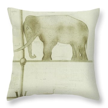 Pachyderm House, Philadelphia Zoo, Detail Of Weather Vane Throw Pillow