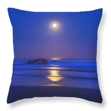 Pacific Moon Throw Pillow