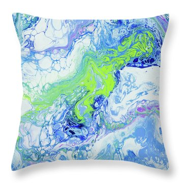 Pacific Storm Coming Throw Pillow