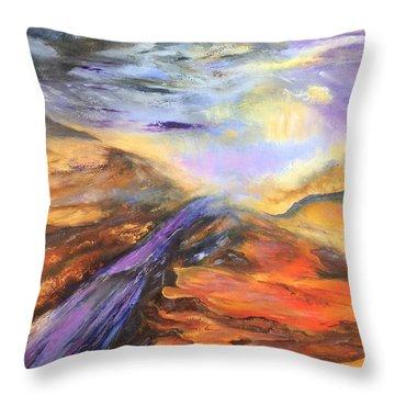 Paint Rock Texas Throw Pillow