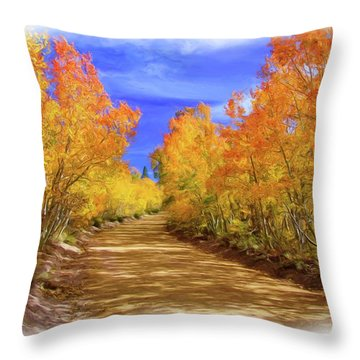Painted Aspens Throw Pillow