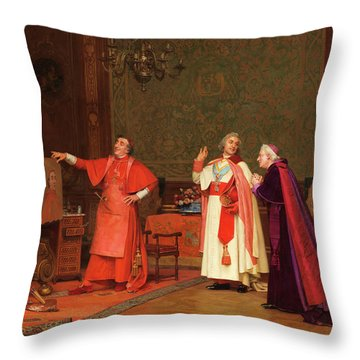 Painted By Himself Throw Pillow