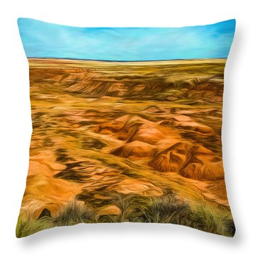 Throw Pillow featuring the photograph Painted Desert Far View by Jon Burch Photography