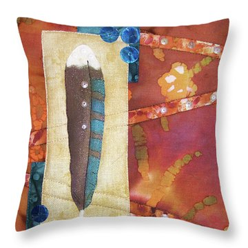 Painted Feather Throw Pillow